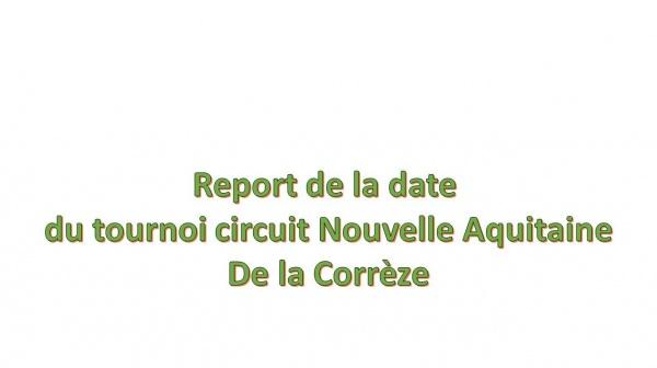 Tournoi Circuit Nouvelle Aquitaine de la Corrèze